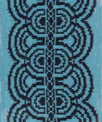 art deco knitted border