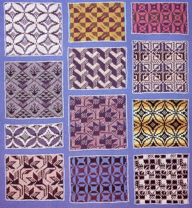 Pattern Design For Knitting : Traditional patchwork designs for hand knitting