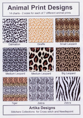 Animal Print Cross Stitch And Needlepoint Designs