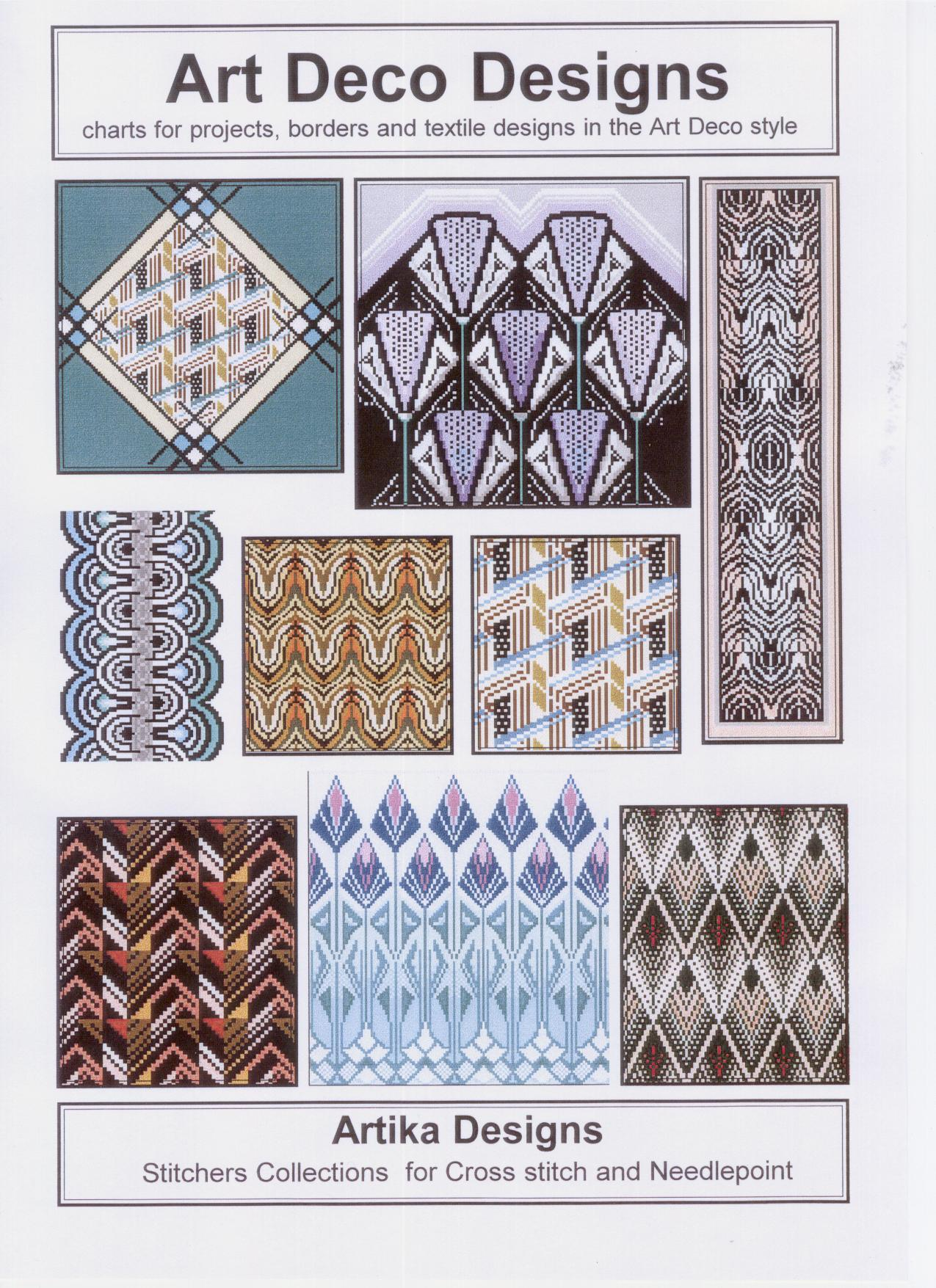 Art Deco Charted Designs For Cross Stitch And Needlepoint